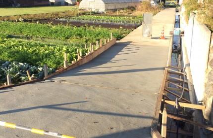 5年計画での水路、農道舗装工事完了