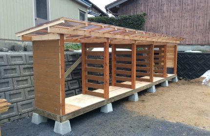 自宅に合わせた薪棚の完成