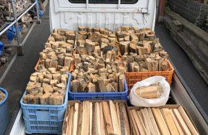 教育委員会様より注文のあった薪の使い方