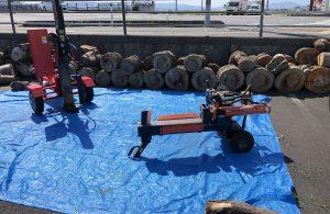 巨大玉切り薪の薪割には縦型がオススメです。FB動画掲載!